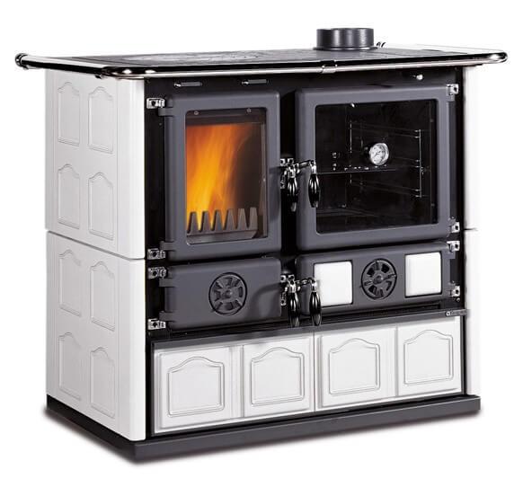 La Nordica Rosa Maiolica wood burning cook stove
