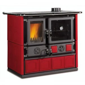 La Nordica Rosa Maiolica wood burning cook stove