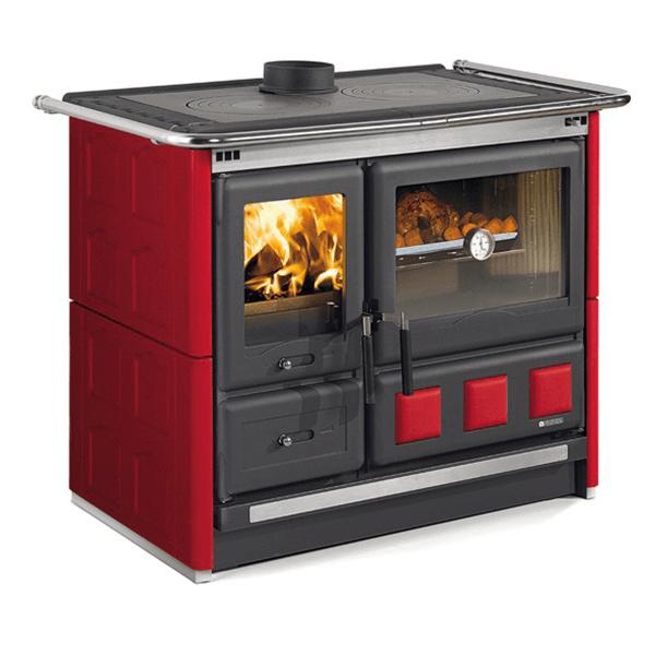la nordica rosa xxl maiolica wood burning cook stove. Black Bedroom Furniture Sets. Home Design Ideas