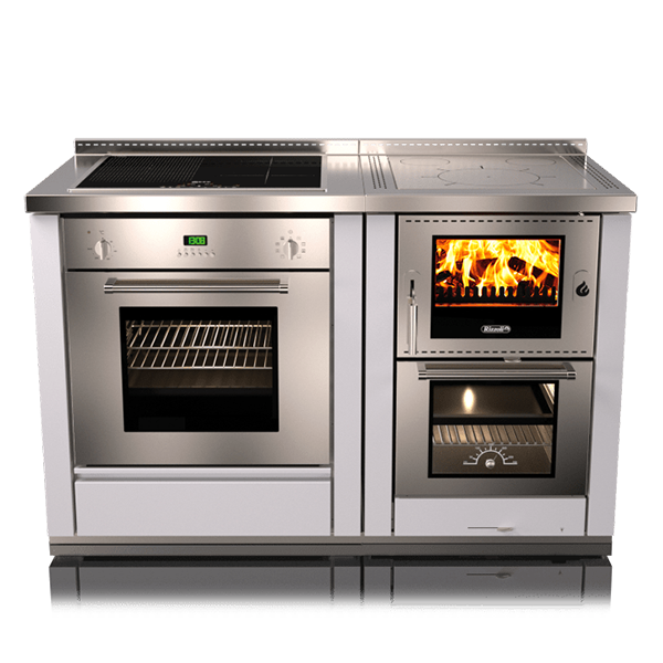 Rizzoli Ml60 Ml80 Combi Combo Wood Gas Electric Cook Stoves Wood Burning Cook Stove Sopka Inc